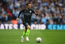 LONDON, ENGLAND - APRIL 06: Bernardo Silva of Manchester City in action during the FA Cup Semi Final match between Manchester City and Brighton and Hove Albion at Wembley Stadium on April 06, 2019 in London, England. (Photo by Mike Hewitt/Getty Images)