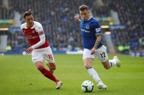 Everton FC v Arsenal FC - Premier League Lucas Digne left back