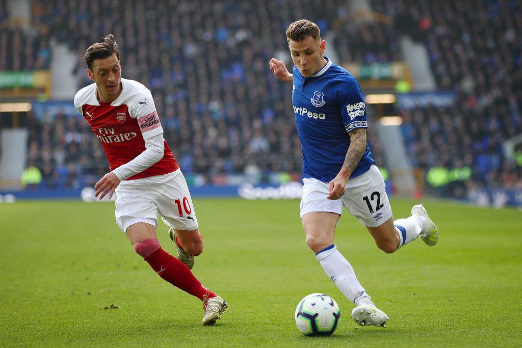 Everton FC v Arsenal FC - Premier League Lucas Digne left back