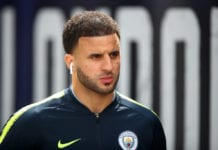 LONDON, ENGLAND - APRIL 14: Kyle Walker of Manchester City arrives prior to the Premier League match between Crystal Palace and Manchester City at Selhurst Park on April 14, 2019 in London, United Kingdom. (Photo by Julian Finney/Getty Images)