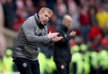 GLASGOW, SCOTLAND - APRIL 14: Neil Lennon the Celtic manager during the Scottish Cup semi-final between Aberdeen and Celtic at Hampden Park on April 14, 2019 in Glasgow, Scotland. (Photo by Ian MacNicol/Getty Images)