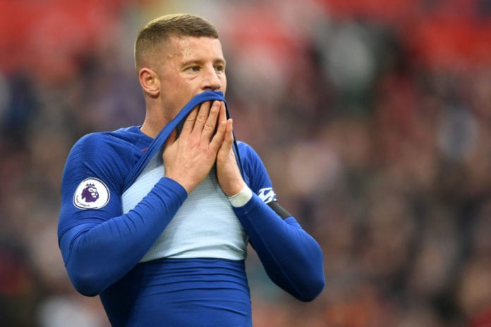LIVERPOOL, ENGLAND - APRIL 14: Ross Barkley of Chelsea reacts after the Premier League match between Liverpool FC and Chelsea FC at Anfield on April 14, 2019 in Liverpool, United Kingdom. (Photo by Michael Regan/Getty Images)