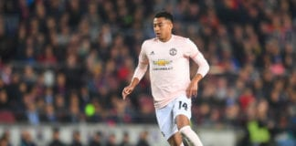 BARCELONA, SPAIN - APRIL 16: Jesse Lingard of Manchester United in action during the UEFA Champions League Quarter Final second leg match between FC Barcelona and Manchester United at Camp Nou on April 16, 2019 in Barcelona, Spain. (Photo by Michael Regan/Getty Images)