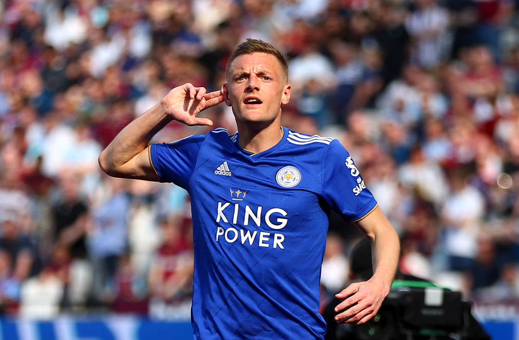 Jamie Vardy, West Ham United v Leicester City - Premier League