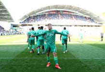 HUDDERSFIELD, ENGLAND - APRIL 20: Gerard Deulofeu of Watford celebrates after scoring his team's second goal during the Premier League match between Huddersfield Town and Watford FC at John Smith's Stadium on April 20, 2019 in Huddersfield, United Kingdom. (Photo by Jan Kruger/Getty Images)
