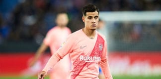 VITORIA-GASTEIZ, SPAIN - APRIL 23: Philippe Coutinho of FC Barcelona looks on during the La Liga match between Deportivo Alaves and FC Barcelona at Estadio de Mendizorroza on April 23, 2019 in Vitoria-Gasteiz, Spain. (Photo by Juan Manuel Serrano Arce/Getty Images)