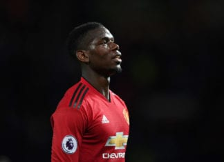 MANCHESTER, ENGLAND - APRIL 24: Paul Pogba of Manchester United looks on during the Premier League match between Manchester United and Manchester City at Old Trafford on April 24, 2019 in Manchester, United Kingdom. (Photo by Shaun Botterill/Getty Images)
