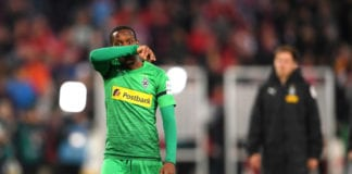 STUTTGART, GERMANY - APRIL 27: Ibrahima Traore of Borussia Monchengladbach reacts after the Bundesliga match between VfB Stuttgart and Borussia Moenchengladbach at Mercedes-Benz Arena on April 27, 2019 in Stuttgart, Germany. (Photo by Christian Kaspar-Bartke/Bongarts/Getty Images)