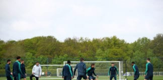 ENFIELD, ENGLAND - APRIL 29: A general view as players participate in a training session ahead of their UEFA Champions League Semi Final first leg match against Ajax on April 29, 2019 in Enfield, England. (Photo by Julian Finney/Getty Images)