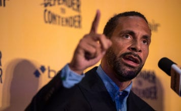 LONDON, ENGLAND - SEPTEMBER 19: Rio Ferdinand during a press conference at The Town Hall Hotel on September 19, 2017 in London, England. Retired England international footballer Rio Ferdinand announced at the press conference that he is training to become a professional boxer. Ferdinand will fight a succession of bouts in 2017 and 2018 with the ultimate aim to box for a title belt. (Photo by Chris J Ratcliffe/Getty Images)