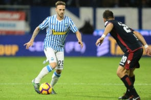 FERRARA, ITALY - NOVEMBER 11: Manuel Lazzari of SPAL in action during the Serie A match between SPAL and Cagliari at Stadio Paolo Mazza on November 11, 2018 in Ferrara, Italy. (Photo by Mario Carlini / Iguana Press/Getty Images)