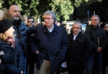 ROME, ITALY - DECEMBER 18: Dino Zoff, former of SS Lazio attends the former SS Lazio player Felice Pulici funeral at Sacro Cuore of Cristo Re on December 18, 2018 in Rome, Italy. (Photo by Marco Rosi/Getty Images)