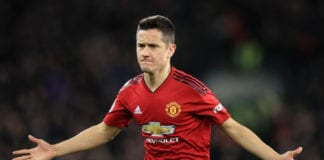 CARDIFF, WALES - DECEMBER 22: Ander Herrera of Manchester United celebrates after scoring his team's second goal during the Premier League match between Cardiff City and Manchester United at Cardiff City Stadium on December 22, 2018 in Cardiff, United Kingdom. (Photo by Marc Atkins/Getty Images)