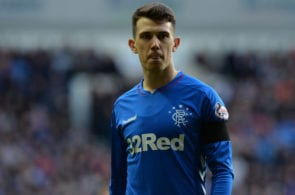 GLASGOW, SCOTLAND - DECEMBER 29: Ryan Jack of Rangers looks on during the Ladbrokes Scottish Premiership match between Rangers and Celtic at Ibrox Stadium on December 29, 2018 in Glasgow, Scotland. (Photo by Mark Runnacles/Getty Images)
