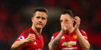 LONDON, ENGLAND - JANUARY 13: Ander Herrera of Manchester United celebrates after the Premier League match between Tottenham Hotspur and Manchester United at Wembley Stadium on January 13, 2019 in London, United Kingdom. (Photo by Catherine Ivill/Getty Images)