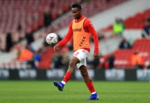 MIDDLESBROUGH, ENGLAND - JANUARY 26: John Obi Mikel of Middlesbrough warms up prior to the FA Cup Fourth Round match between Middlesbrough and Newport County AFC at Riverside Stadium on January 26, 2019 in Middlesbrough, United Kingdom. (Photo by Matthew Lewis/Getty Images)