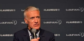 MONACO, MONACO - FEBRUARY 18: Didier Dechamps, winner of the Laureus Team Award Award of the year speaks at the Winners Press Conference during the 2019 Laureus World Sports Awards on February 18, 2019 in Monaco, Monaco. (Photo by Christian Alminana/Getty Images for Laureus)