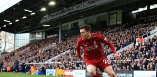 Fulham FC v Liverpool FC - Premier League Andy Robertson left back
