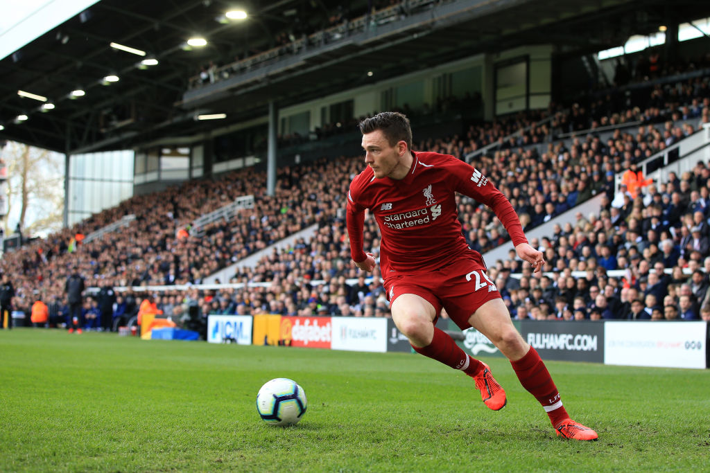 Fulham FC v Liverpool FC - Premier League Andy Robertson left back