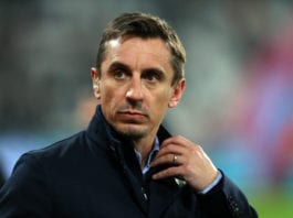 Gary Neville stands against Kepa despite Arsenal defeat