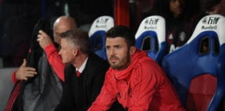 LONDON, ENGLAND - FEBRUARY 27: Assistant coach Michael Carrick looks on during the Premier League match between Crystal Palace and Manchester United at Selhurst Park on February 27, 2019 in London, United Kingdom. (Photo by Mike Hewitt/Getty Images)