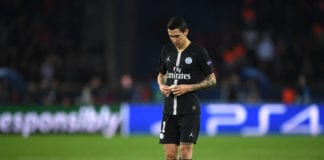 PARIS, FRANCE - MARCH 06: Angel Di Maria of PSG reacts during the UEFA Champions League Round of 16 Second Leg match between Paris Saint-Germain and Manchester United at Parc des Princes on March 06, 2019 in Paris, . (Photo by Shaun Botterill/Getty Images)