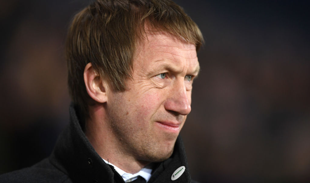 WEST BROMWICH, ENGLAND - MARCH 13: Swansea manager Graham Potter looks on during the Sky Bet Championship match between West Bromwich Albion and Swansea City at The Hawthorns on March 13, 2019 in West Bromwich, England. (Photo by Stu Forster/Getty Images)