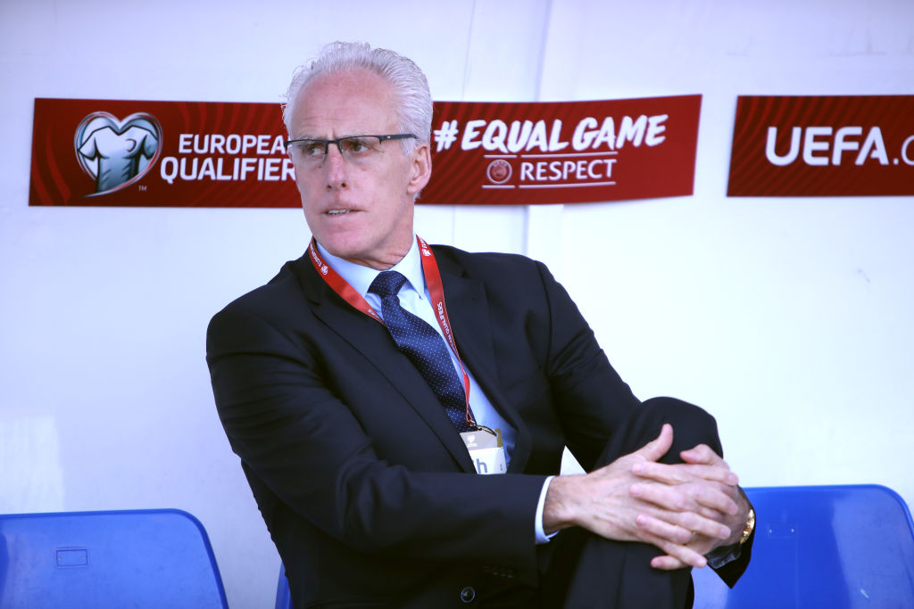 GIBRALTAR, GIBRALTAR - MARCH 23: Ireland manager, Mick McCarthy during the 2020 UEFA European Championships group D qualifying match between Gibraltar and Republic of Ireland at Victoria Stadium on March 23, 2019 in Gibraltar, Gibraltar. (Photo by Alex Pantling/Getty Images)