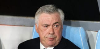 NAPLES, ITALY - APRIL 18: Coach of SSC Napoli Carlo Ancelotti looks on during the UEFA Europa League Quarter Final Second Leg match between S.S.C. Napoli and Arsenal at Stadio San Paolo on April 18, 2019 in Naples, Italy. (Photo by Francesco Pecoraro/Getty Images)