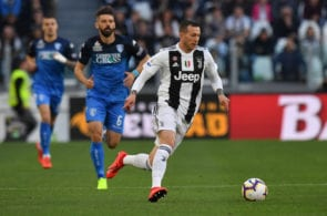 TURIN, ITALY - MARCH 30: Federico Bernardeschi of Juventus in action during the Serie A match between Juventus and Empoli at Allianz Stadium on March 30, 2019 in Turin, Italy. (Photo by Tullio M. Puglia/Getty Images)