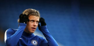 LONDON, ENGLAND - APRIL 15: Conor Gallagher of Chelsea warms up ahead of the Premier League 2 match between Chelsea and Arsenal at Stamford Bridge on April 15, 2019 in London, England. (Photo by Naomi Baker/Getty Images)