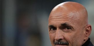 MILAN, ITALY - MAY 13: FC Internazionale coach Luciano Spalletti looks on during the Serie A match between FC Internazionale and Chievo at Stadio Giuseppe Meazza on May 13, 2019 in Milan, Italy. (Photo by Emilio Andreoli/Getty Images)