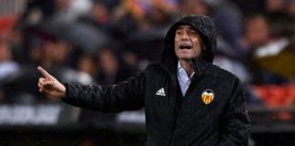 VALENCIA, SPAIN - APRIL 18: Marcelino Garcia Toral, Manager of Valencia reacts during the UEFA Europa League Quarter Final Second Leg match between Valencia and Villarreal at Estadi de Mestalla on April 18, 2019 in Valencia, Spain. (Photo by Manuel Queimadelos Alonso/Getty Images)