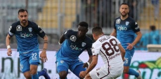 EMPOLI, ITALY - MAY 19: Afriye Acquah of Empoli Fc in action during the Serie A match between Empoli and Torino FC at Stadio Carlo Castellani on May 19, 2019 in Empoli, Italy. (Photo by Gabriele Maltinti/Getty Images)