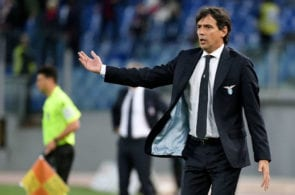 ROME, ITALY - MAY 20: SS Lazio head coach Simone Inzaghi during the Serie A match between SS Lazio and Bologna FC at Stadio Olimpico on May 20, 2019 in Rome, Italy. (Photo by Marco Rosi/Getty Images)