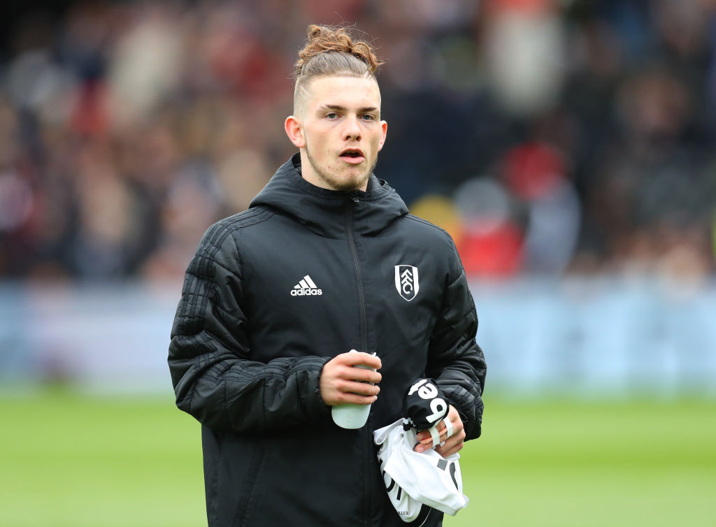 LONDON, ENGLAND - APRIL 27: Harvey Elliott of Fulham before the Premier League match between Fulham FC and Cardiff City at Craven Cottage on April 27, 2019 in London, United Kingdom. (Photo by Catherine Ivill/Getty Images)