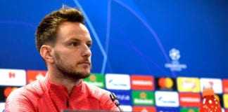 BARCELONA, SPAIN - APRIL 30: Ivan Rakitic of Barcelona attends an FC Barcelona press conference ahead of their UEFA Champions League semi-final first leg match against Liverpool. On April 30, 2019 in Barcelona, Spain. (Photo by Alex Caparros/Getty Images)