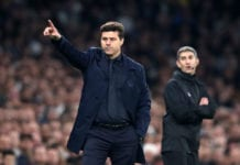 LONDON, ENGLAND - APRIL 30: Mauricio Pochettino, Manager of Tottenham Hotspur points during the UEFA Champions League Semi Final first leg match between Tottenham Hotspur and Ajax at at the Tottenham Hotspur Stadium on April 30, 2019 in London, England. (Photo by Julian Finney/Getty Images)