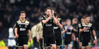 LONDON, ENGLAND - APRIL 30: Daley Blind of Ajax acknowledges the fans after the UEFA Champions League Semi Final first leg match between Tottenham Hotspur and Ajax at at the Tottenham Hotspur Stadium on April 30, 2019 in London, England. (Photo by Shaun Botterill/Getty Images)