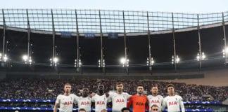 LONDON, ENGLAND - APRIL 30: Tottenham Hotspur line up before the UEFA Champions League Semi Final first leg match between Tottenham Hotspur and Ajax at at the Tottenham Hotspur Stadium on April 30, 2019 in London, England. (Photo by Julian Finney/Getty Images)