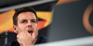 FRANKFURT AM MAIN, GERMANY - MAY 01: Cesar Azpilicueta of Chelsea speaks to the media during a Chelsea press conference ahead of the UEFA Europa League semi-final second leg match between Chelsea and Eintracht Frankfurt on May 02 2019 at Commerzbank-Arena on May 01, 2019 in Frankfurt am Main, Germany. (Photo by Alexander Scheuber/Getty Images)