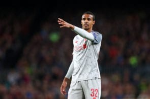 BARCELONA, SPAIN - MAY 01: Joel Matip of Liverpool during the UEFA Champions League Semi Final first leg match between Barcelona and Liverpool at the Nou Camp on May 01, 2019 in Barcelona, Spain. (Photo by Catherine Ivill/Getty Images)