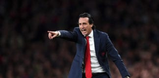 LONDON, ENGLAND - MAY 02: Unai Emery, Manager of Arsenal reacts during the UEFA Europa League Semi Final First Leg match between Arsenal and Valencia at Emirates Stadium on May 02, 2019 in London, England. (Photo by Shaun Botterill/Getty Images)