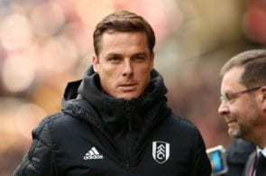 WOLVERHAMPTON, ENGLAND - MAY 04: Scott Parker, Caretaker Manager of Fulham looks on prior to the Premier League match between Wolverhampton Wanderers and Fulham FC at Molineux on May 04, 2019 in Wolverhampton, United Kingdom. (Photo by Jan Kruger/Getty Images)