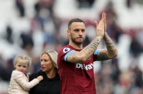 LONDON, ENGLAND - MAY 04: Marko Arnautovic of West Ham United applauds fans after the Premier League match between West Ham United and Southampton FC at London Stadium on May 04, 2019 in London, United Kingdom. (Photo by Marc Atkins/Getty Images)