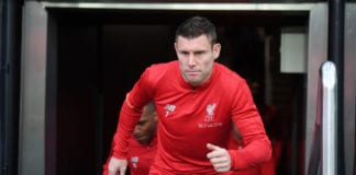 NEWCASTLE UPON TYNE, ENGLAND - MAY 04: James Milner of Liverpool walks out to warm up prior to the Premier League match between Newcastle United and Liverpool FC at St. James Park on May 04, 2019 in Newcastle upon Tyne, United Kingdom. (Photo by Laurence Griffiths/Getty Images)