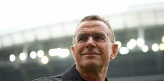 LEIPZIG, GERMANY - MAY 11: Ralf Rangnick, Manager of RB Leipzig looks on prior to the Bundesliga match between RB Leipzig and FC Bayern Muenchen at Red Bull Arena on May 11, 2019 in Leipzig, Germany. (Photo by Matthias Hangst/Bongarts/Getty Images)