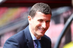 WATFORD, ENGLAND - MAY 12: Javi Gracia, Manager of Watford arrives at the stadium prior to the Premier League match between Watford FC and West Ham United at Vicarage Road on May 12, 2019 in Watford, United Kingdom. (Photo by Matthew Lewis/Getty Images)