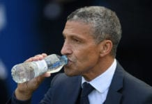 BRIGHTON, ENGLAND - MAY 12: Chris Hughton, Manager of Brighton and Hove Albion looks on prior to the Premier League match between Brighton & Hove Albion and Manchester City at American Express Community Stadium on May 12, 2019 in Brighton, United Kingdom. (Photo by Mike Hewitt/Getty Images)