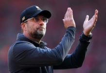 LIVERPOOL, ENGLAND - MAY 12: Jurgen Klopp, Manager of Liverpool applauds the fans after the Premier League match between Liverpool FC and Wolverhampton Wanderers at Anfield on May 12, 2019 in Liverpool, United Kingdom. (Photo by Laurence Griffiths/Getty Images)